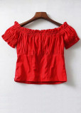 Puff Sleeve Off Shoulder Top ( in 4 Colors )