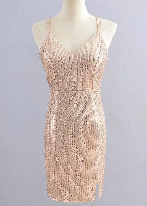Sequined Bodycon Dress ( in 2 Colors )