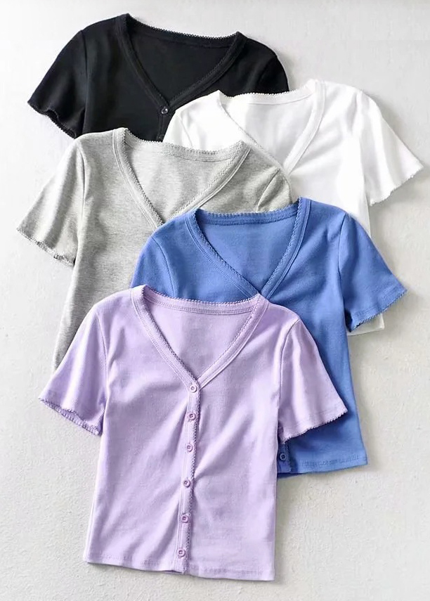Button Front Knit Top ( in 5 Colors )