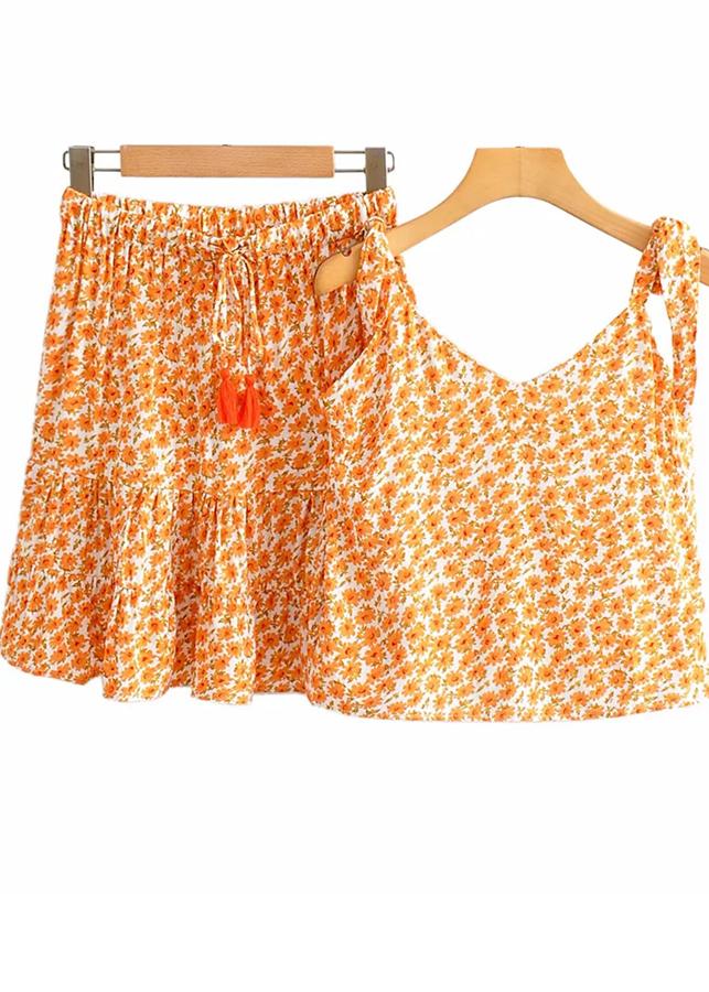 Floral Set ( Cami Top & Skirt )