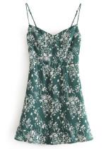 Mini Dress in Green Floral