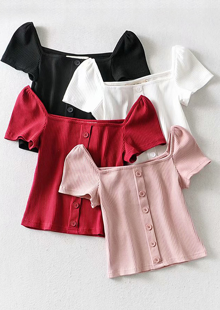 Button Front Top ( in 4 Colors )