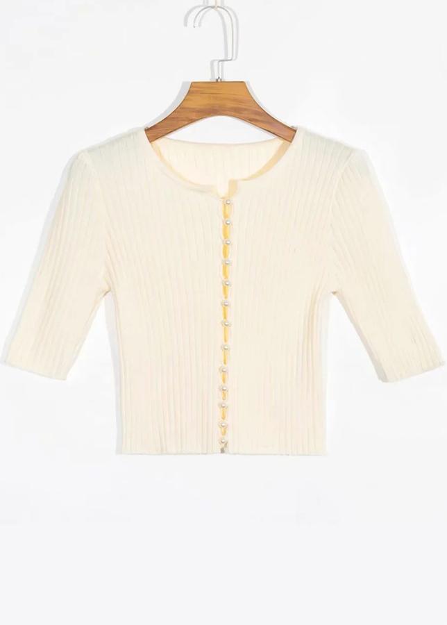 Knit Top in Cream