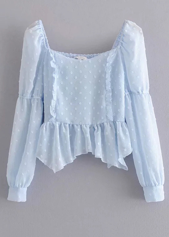 Long Sleeve Blouse in Blue