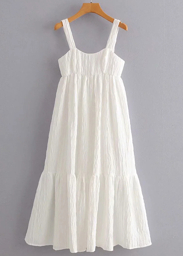 Texture Maxi Dress in White