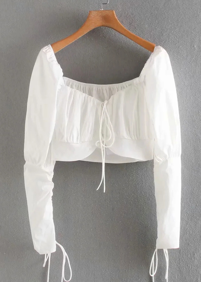 Crop Blouse in White