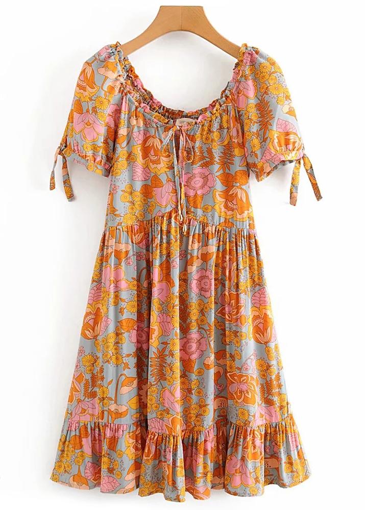 Floral Short Dress