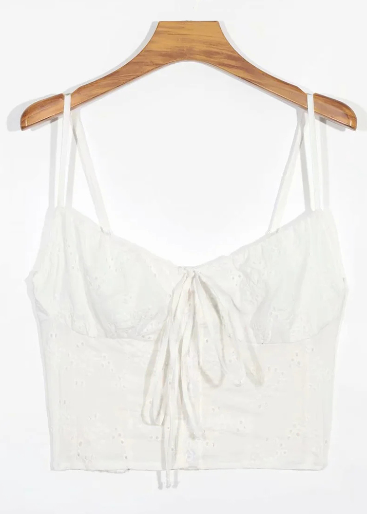 Embroidered Crop Top ( in 3 Colors )