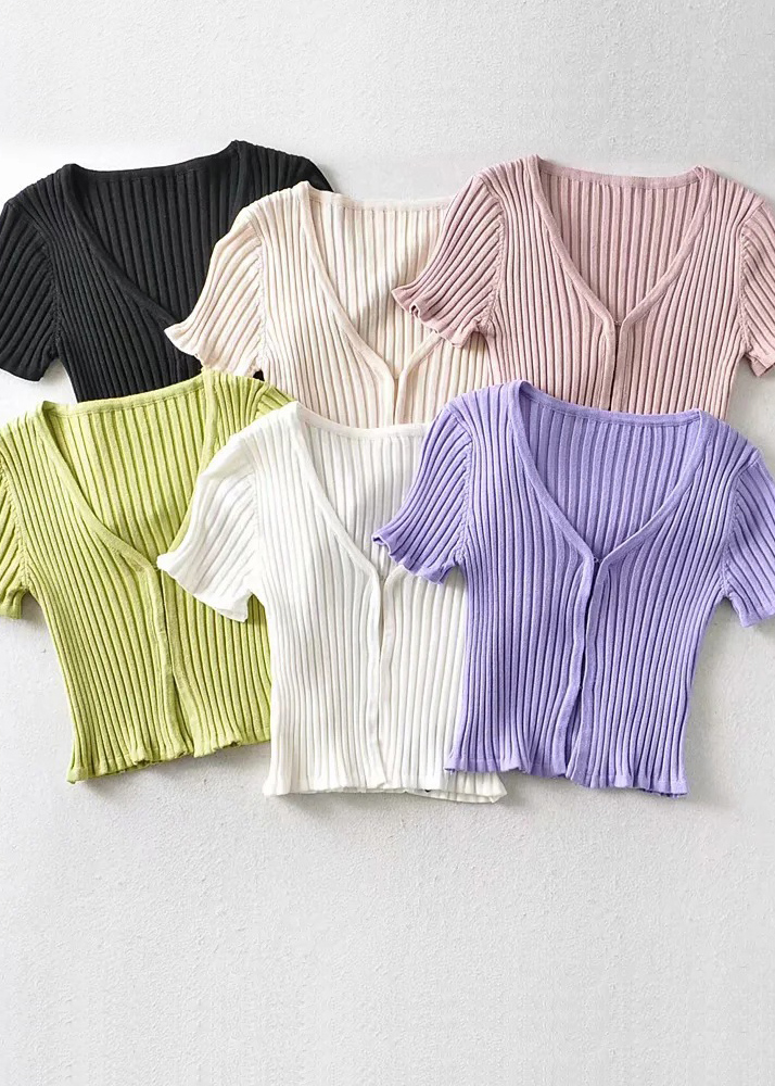 Knit Crop Top ( in 6 Colors )