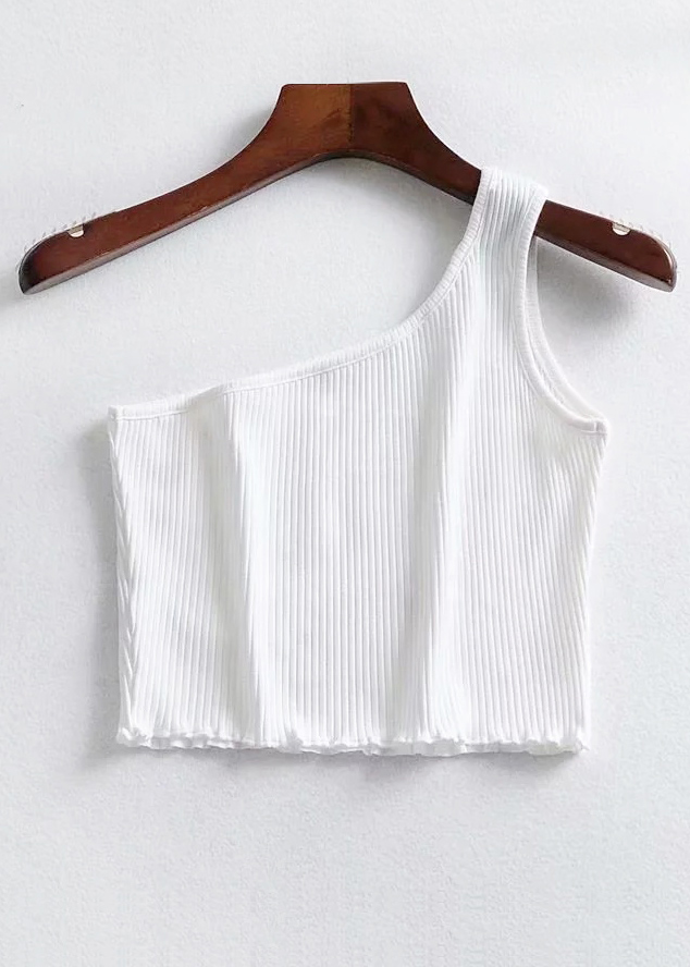 One Shoulder Crop Top ( in 4 Colors )