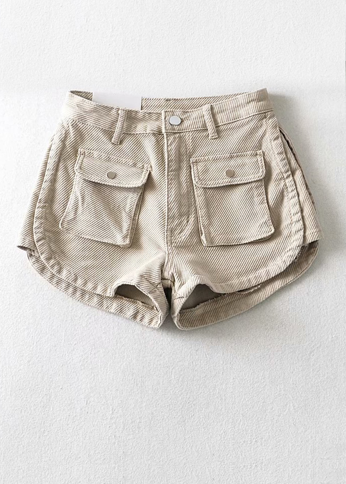 High Waisted Denim Shorts ( in 2 Colors )