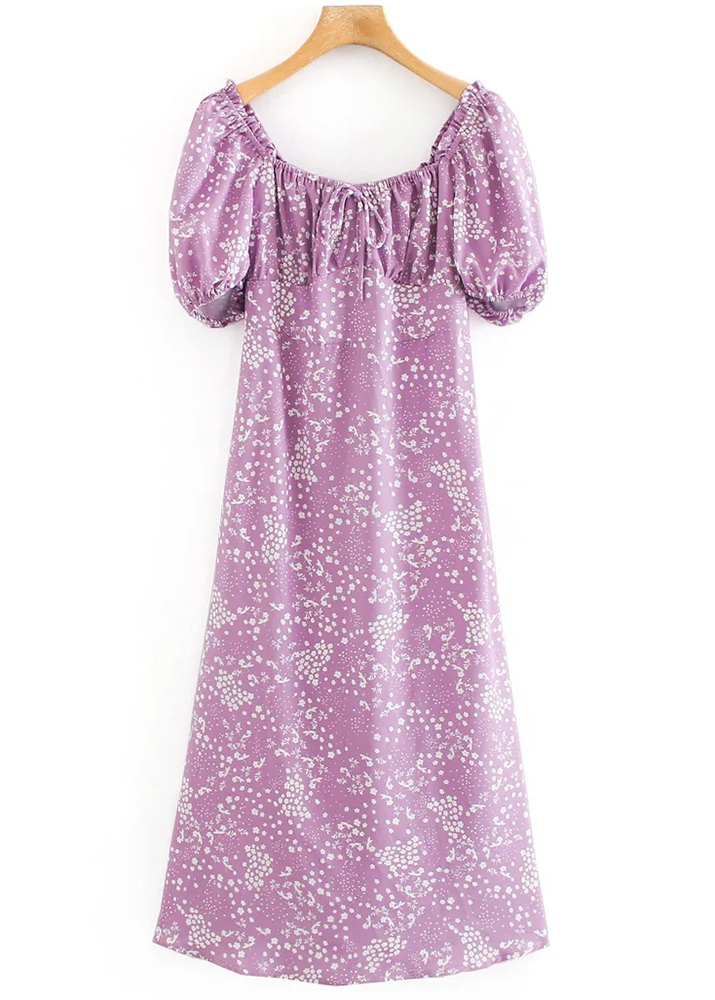 Maxi Dress in Lavender Floral
