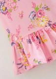 Short Dress in Pink Floral