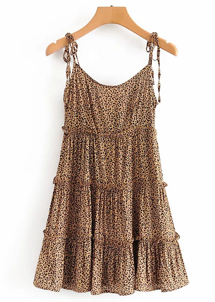 Leopard Mini Dress ( in 2 Colors )