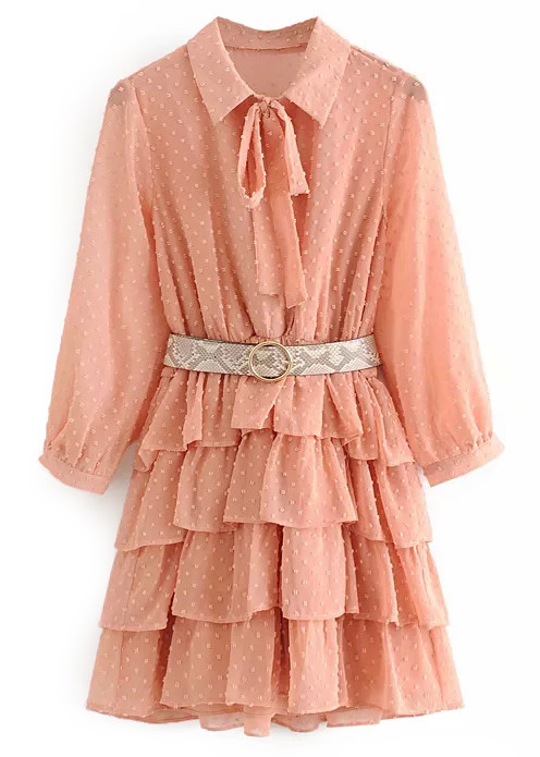 Texture Dress in Coral
