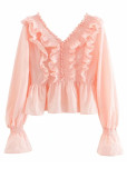 Bell Sleeve Blouse in Pink