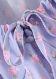 Crop Top in Lavender Floral