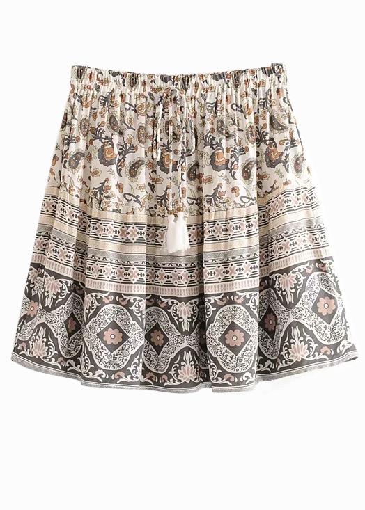 High Waisted Floral Skirt