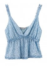 Frill Floral Cami Top ( in 2 Colors )