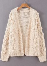 Open Front Knit Cardigan ( in 3 Colors )