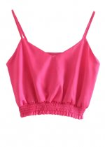 Crop Top in Fuchsia