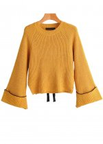 Bell Sleeves Sweater in Yellow