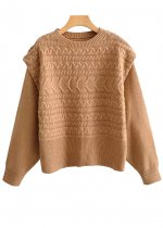 O-Neck Sweater in Tan