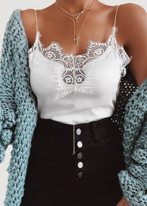 Cami Top with Lace Detail