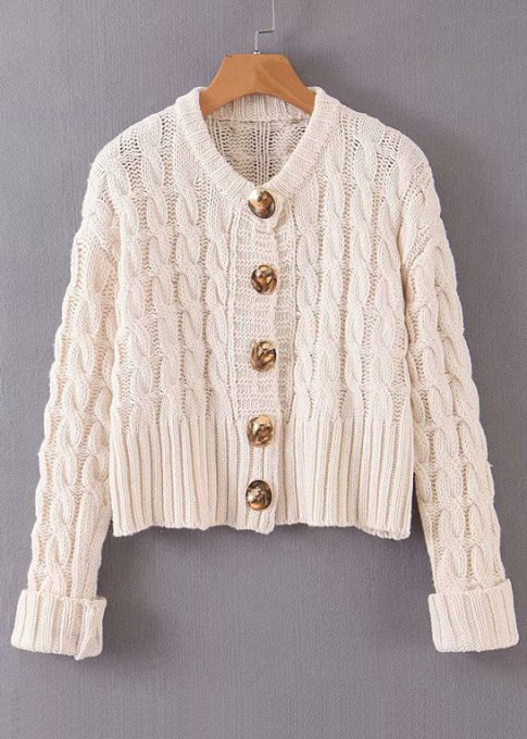 Button Front Knit Cardigan ( in 2 Colors )
