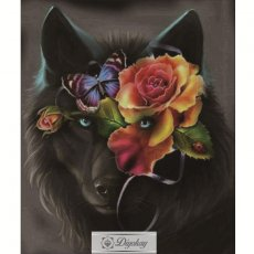 Diamond Painting - Wolf and flower