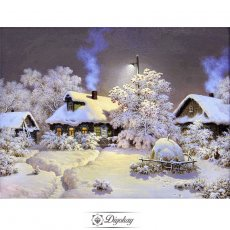 Diamond Painting - snow scenery