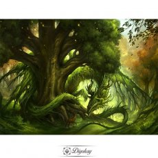 Diamond Painting - Green dragon in the forest