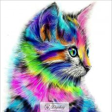 Diamond Painting - Color cat 1