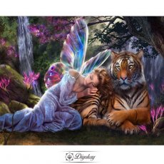 Diamond Painting - Angel and tiger 1