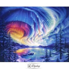 Diamond Painting - Starry landscape