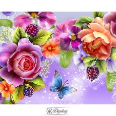 diamond painting - beautiful flower 21