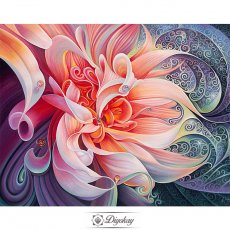 diamond painting - beautiful flower 17