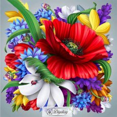 Diamond Painting - Beautiful flowers 1