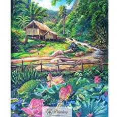 Diamond Painting - Forest cottage 13