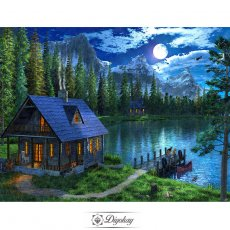 Diamond Painting - Forest cottage 12