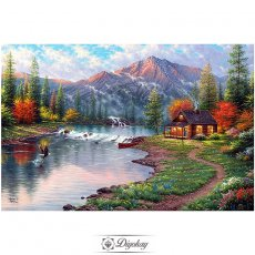 Diamond Painting - Forest cottage 15