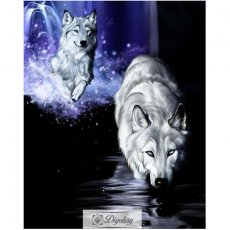 Diamond Painting - Wolf 15