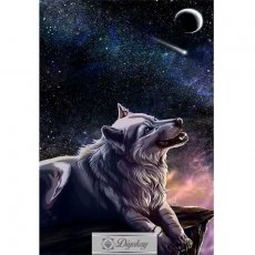 Diamond Painting - Wolf 35