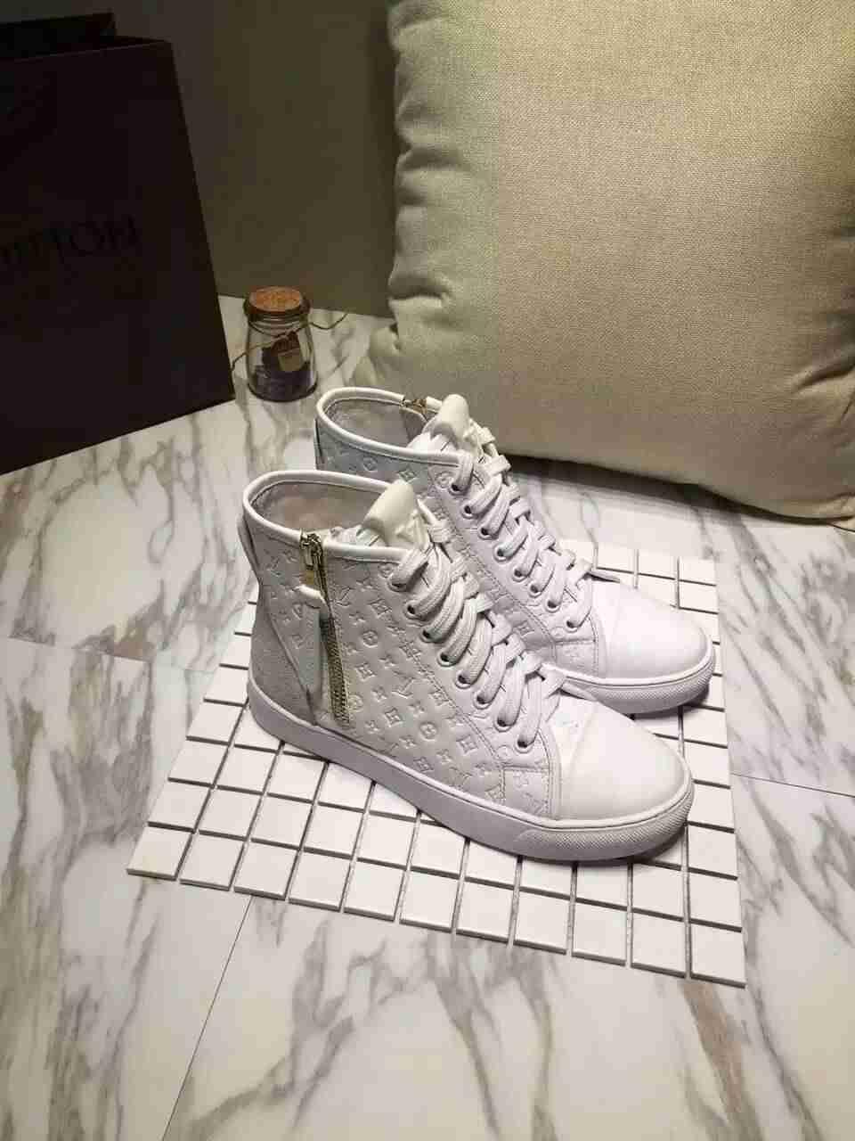ルイヴィトンコピー 靴 Louis Vuitton 2016秋冬新作 レディース ハイカット スニーカー lvshoes161109,4
