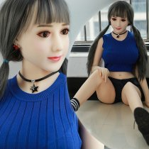 148cm Neat bang bunches blue sweater sexy legs sex dolls dreamlovedoll