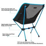 Sunyear Lightweight Compact Folding Camping Backpack Chairs, Portable, Breathable Comfortable, Perfect Hiking/Fishing/Camping