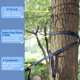 Single Camping Hammock with Mosquito/Bug Net, 10ft Hammock Tree Straps & Carabiners | Easy Assembly | Portable Parachute Nylon Hammock for Camping, Backpacking, Survival, Travel & More