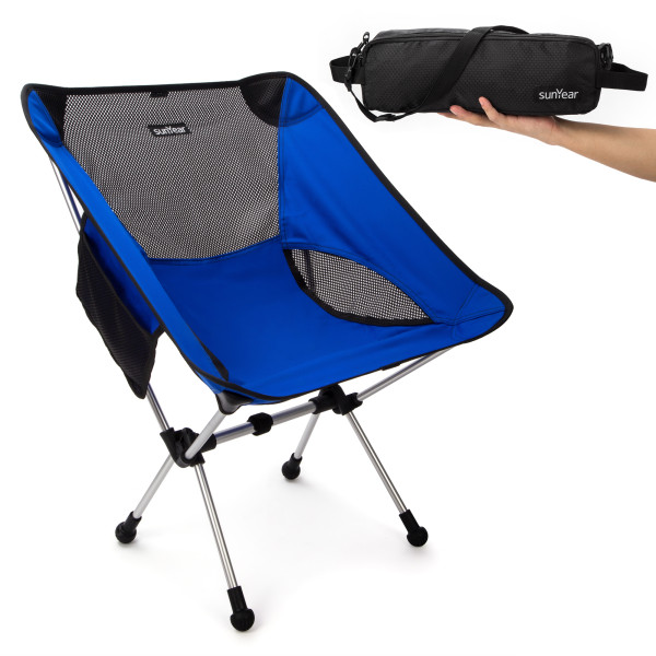 Sunyear Lightweight and Foldable Camp Chair, Portable, Breathable and Comfortable, Perfect for Hiking/Fishing/The Park/Sport
