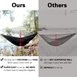 Sunyear Hammock Camping with Net/Netting Mosquito & 2 Tree Straps (16+1 Loops Each,20Ft Total), Portable Nylon Parachute Hammocks for Outdoor Indoor Backpacking Survival & Travel