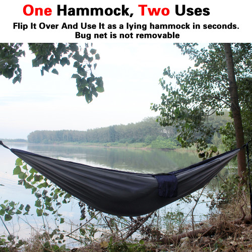 16+1 Loops Each,20Ft Total Sunyear Hammock Camping with Net//Netting /& 2 Tree Straps Portable Nylon Parachute Hammocks for Outdoor Indoor Backpacking Survival /& Travel